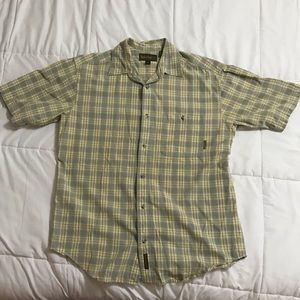 Timberland Short Sleeve Plaid Button Down Shirt